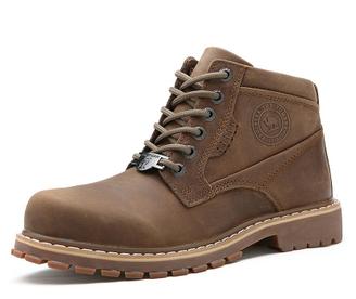 2015冬季新款男鞋户外休闲潮流工装靴短筒系带头层牛皮男靴子