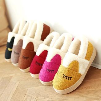 2015冬季新款情侣鞋韩版舒适情侣款家居拖鞋包头包跟棉拖鞋