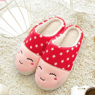 2015冬季新款情侣鞋潮流时尚萌系舒适家居拖鞋绒面拖鞋平跟棉拖鞋