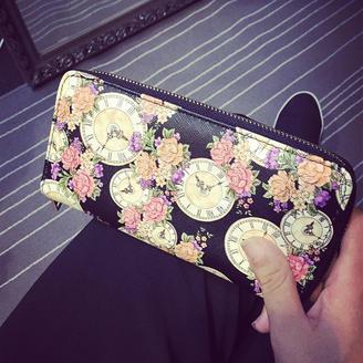 2015新款包包时尚印花流行钱夹小清新甜美韩版女包长款钱包
