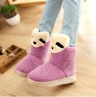 2015冬季新款女靴甜美季舒适时尚棉鞋绒面女鞋韩版可爱雪地靴