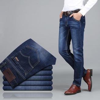 2015秋季男士新款牛仔裤 时尚都市男士休闲百搭合体直筒牛仔长裤